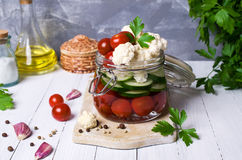 Assorted pickled vegetables Stock Photo