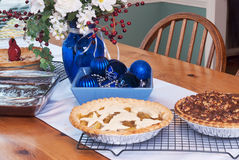 Assorted Pies and Brownies Stock Photos