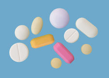 Assorted pills Royalty Free Stock Photo