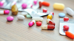 Assorted pills Royalty Free Stock Photos