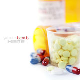 Assorted pills Stock Images