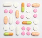 Assorted pills Stock Photos