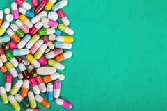 Assorted pills and capsules pharmaceutical medicine Stock Image