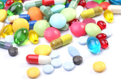 Assorted pills Royalty Free Stock Images