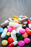 Assorted pills Royalty Free Stock Photography