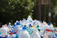 Assorted Plastic Bottles Stock Photos