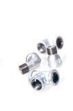 Assorted plumbing iron fittings Stock Photography