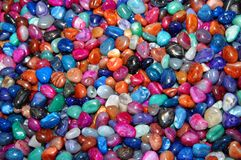 Assorted polished rocks Stock Image