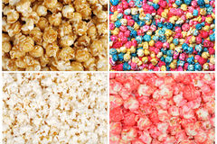 Assorted popcorn Stock Images