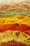 Assorted powder spices Stock Photos