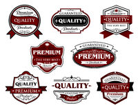 Assorted Premium Quality labels and banners Stock Image