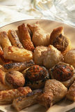 Assorted puff pastry appetizers Stock Image