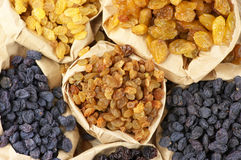 Assorted raisins Stock Photo