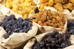 Assorted raisins Royalty Free Stock Image