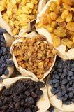 Assorted raisins Royalty Free Stock Photography