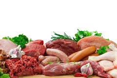 Assorted Raw Meats Royalty Free Stock Images