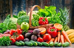 Assorted raw organic vegetables Royalty Free Stock Photo