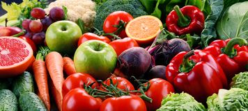 Assorted raw organic vegetables Royalty Free Stock Photos