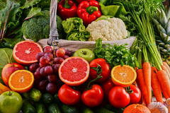 Assorted raw organic vegetables Stock Images