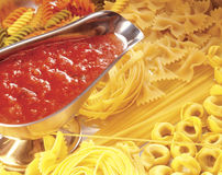 Assorted raw pasta. Royalty Free Stock Photo
