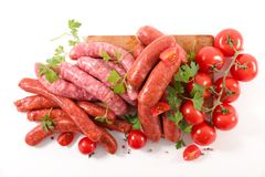 Assorted raw sausage. For barbecue Stock Image