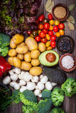 Assorted raw vegetables Royalty Free Stock Photography