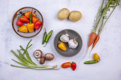 Assorted raw veggies. Stock Image