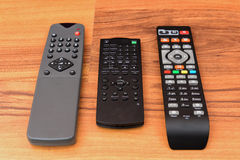 Assorted remote controllers Stock Photos