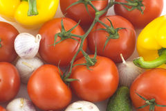 Assorted ripe vegetables closeup Stock Image