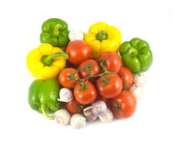 Assorted ripe vegetables closeup Royalty Free Stock Photo
