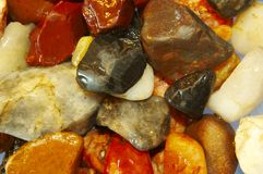 Assorted river stones. A close up shot of an assortment of river stones Stock Photography