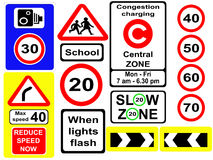 Assorted road signs Stock Photography