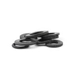 Assorted rubber O rings, isolated Royalty Free Stock Image