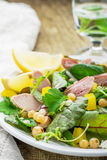 Assorted salad with arugula, spinach, chard Stock Photography
