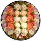 Assorted salad platter. Assorted salad holiday deli platter Stock Photos