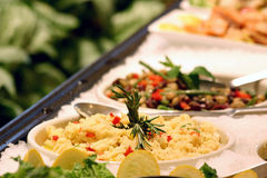 Assorted Salads. Assortment of speciality salads. Shallow DOF stock image