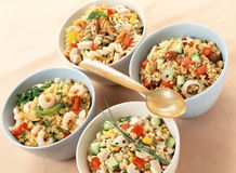 Assorted salads with carbohydrates Royalty Free Stock Photos