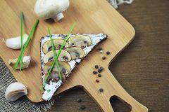Assorted sandwiches with different fillings, fish mushrooms and. Vegetablesr royalty free stock photography