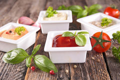 Assorted sauce Stock Photography
