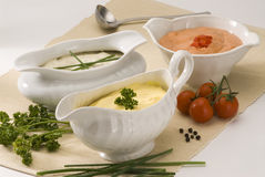 Assorted sauces. Royalty Free Stock Photography