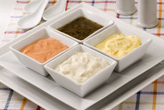 Assorted sauces. Stock Photo