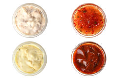 Assorted sauces Royalty Free Stock Photography