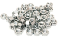 Assorted screw nuts Stock Photography
