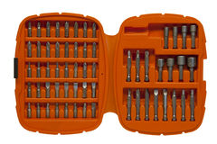 Assorted screwdriver bits Stock Image