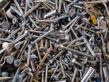 Assorted screws and fixings. Royalty Free Stock Images