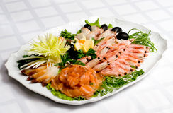 Assorted seafood. On a plate Royalty Free Stock Photo
