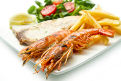 Assorted Seafood Grilled Royalty Free Stock Photos