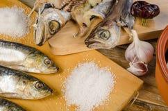 Assorted secó pescados Imagen de archivo libre de regalías