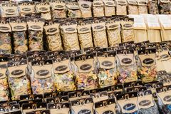 Assorted selection of Pasta in street market royalty free stock images