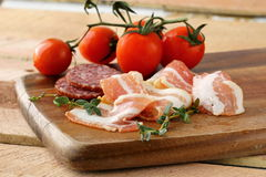 Assorted several kinds of sausages Royalty Free Stock Image